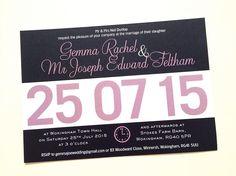Running bib wedding invite