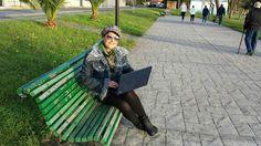 Una parada durante este paseo, para hablar por skype con una persona interesada en el negocio!! #anabelycarlos nos encanta nuestro trabajo!! blog.carlossanin.com