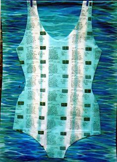 Jan Cook. Postcards I would have Sent. Printed Cloth