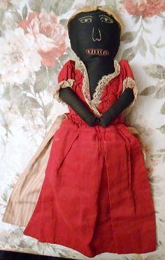 RARE Authentic Civil War Confederate Black Mammy White Girl Topsy Turvey Doll | eBay