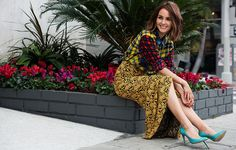 The incredibly stunning Camilla Luddington mixes prints like a pro in this LA photo shoot // Photo by Justin Campbell Camilla Luddington Grey's Anatomy, Justin Campbell, Frock And Frill, English Actresses, Mixing Prints, Who What Wear, Fashion Details, Everyday Fashion, Cool Outfits