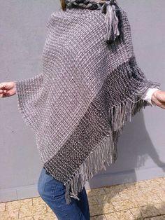 ponchos artesanales en telar