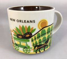 Starbucks New Orleans You Are Here Coffee Mug Cup 14 oz YAH Collection 2015 #Starbucks