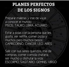 Planes perfectos para cada signo.