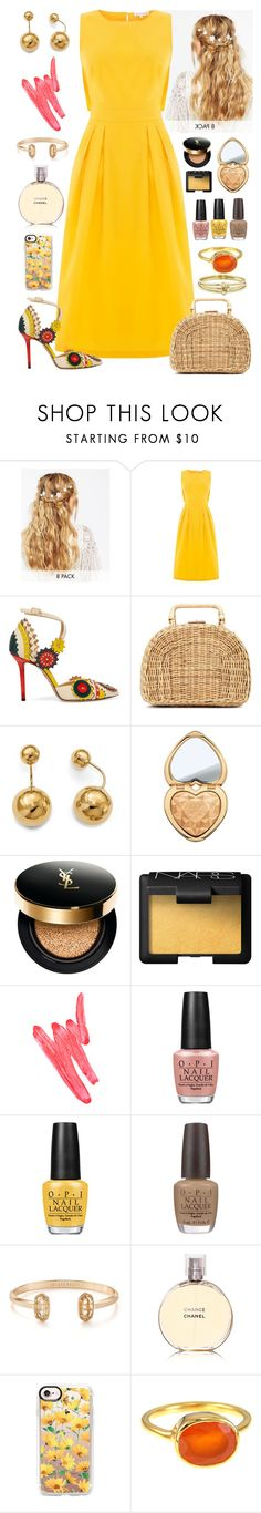 """""""Modern Day Retro"""" by fabirm ❤ liked on Polyvore featuring ASOS, Warehouse, Charlotte Olympia, Kayu, Allurez, Too Faced Cosmetics, Yves Saint Laurent, NARS Cosmetics, Ilia and OPI"""