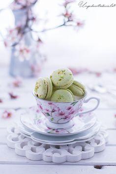 un pedacito de cielo: Macarons de pistacho y chocolate blanco