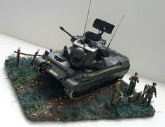 #militarymodel#dioramas#flak panzer anti aircraft tank