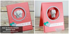 How to create a spinner card featuring the A Little Wild stamp set and framelits Wendy Cranford www.luvinstampin.com