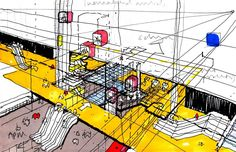 Exploded Axonometric. Madrid Barajas Airport. RSHP.
