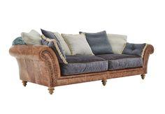 4 Seater Split Frame Leather Sofa - Westwood - Living room furniture, sets & ideas | Furniture Village