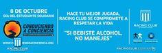Gráfica con el apoyo de Racing Solidario.