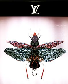 Pink-winged Insect | The Amazing Louis Vuitton Insect Window Displays - I will call these Fashion Bugs