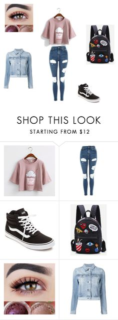 """Outifts for school"" by anna-pignatelli on Polyvore featuring moda, Topshop, Vans e 3x1"
