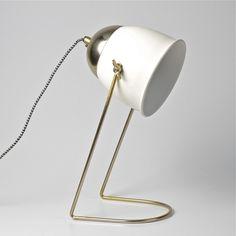 Room and Bloom - Beam Desk Lamp - Matte White/Gold, $115.00 (http://www.roomandbloom.com.au/furniture/beam-desk-lamp-matte-white-gold/)