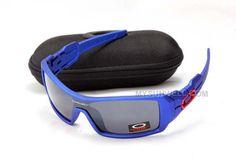31fbeb8e8a3 Oakley Oil Rig Sunglass Blue Frame Black Lens On Sale   Cheap Oakleys  Sunglasses