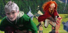 Jack Frost, Merida / The Big Four / Hogwarts Disney Au, Disney Dream, Disney And Dreamworks, Disney Pixar, Frozen Book, Frozen And Tangled, Disney Hogwarts, Harry Potter Disney, Rapunzel