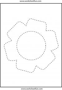 Picture tracing – Flower – 1 Worksheet