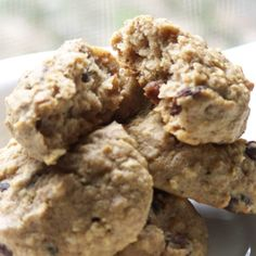 These cookies are free of sugar, dairy, and gluten (use certified gluten-free oats if you cant tolerate even a trace).