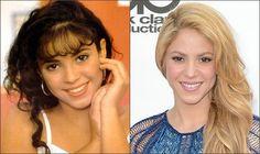 Шакира в детстве,в юности и сейчас