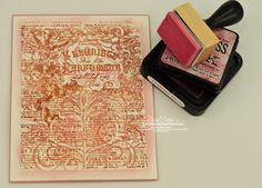Becca Feeken's tutorial on stamping a double background.  Cool idea!