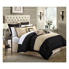 Click to save over 60% on a Luxurious Reversible Comforter with Quilt Embroidery Details. 8-Piece Set.