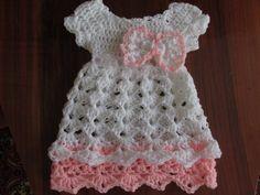 Crochet baby dress PATTERN , crochet pattern, dress pattern , baby girl dress pattern, crochet pattern