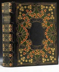 The Guild of Women Binders, ROGERS, Samuel. Poems. London: Edward Moxon, 1838. Unsigned binding by the Guild of Women Binders, c. 1900-1904. Image courtesy of Bauman Rare Books.