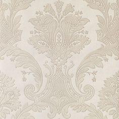 294-2605 Platinum Damask - Alfonsa Beacon House Wallpaper