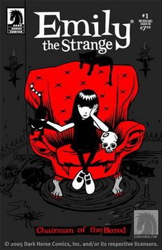 Love the Emily the Strange series - discovered it when my daughter was 13 as was Emily. If goth would have been around when I was 13 I would have LOVED these books and Emily - never mind Barbie!