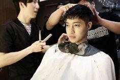 kim hyun joong corte de cabello para servicio militar