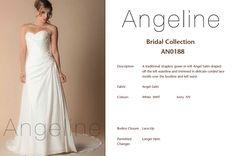 Bride dress Bridal by Anenia Satin Color, Strapless Gown, Bridal Collection, Bridal Dresses, One Shoulder Wedding Dress, Bodice, Colours, Gowns, Lace