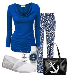 Untitled #328 by alliedrover on Polyvore featuring polyvore, fashion, style, Mother of Pearl, TOMS, Blu Bijoux and clothing