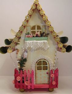 Altered birdhouse.  Somewhat less realistic, but I really want to do it.