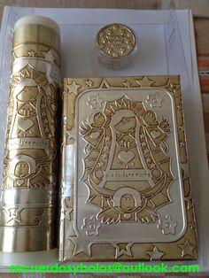 Set de Biblia con Vela y Rosario para Primera Comunion 380.00  virgencita dorada                        set de Biblia , vela y rosario p...