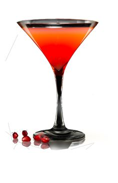 Pink Passion  (2 oz. Portón Pisco    1 oz. Pomegranate juice   1 oz. Tangerine juice   Sugar to taste   Pomegranate as garnish)