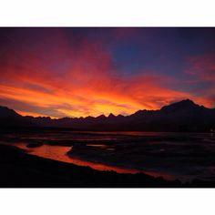 Sunset in Valdez Alaska