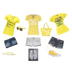 Sunny summer casual, created by crystalchapman on Polyvore