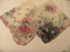 pretty vintage hankies... I don't use them, but I love looking at them