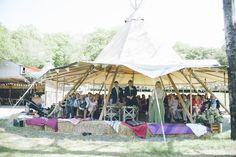 Tipi Ceremony Beautiful Fforest Farm Festival Wedding http://www.petecranston.com/
