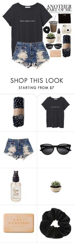 """""""it is wednesday my dudes"""" by softheartt ❤ liked on Polyvore featuring The Beach People, MANGO, Levi's, Olivine, Fujifilm, The Art of Shaving, Miss Selfridge and Kate Spade"""