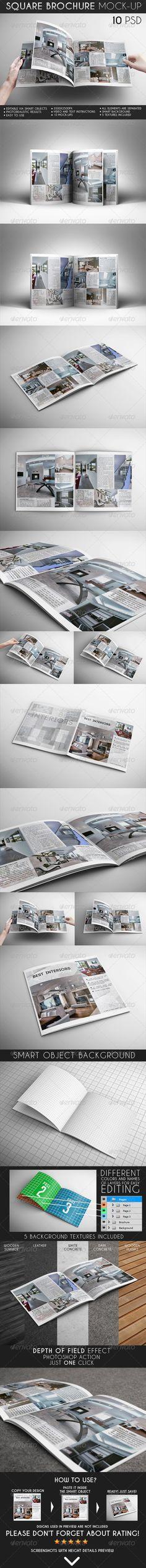 Brochure Mock-Up   Download: http://graphicriver.net/item/square-brochure-mockup/6838423?ref=ksioks