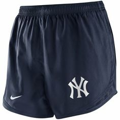 New York Yankees Ladies 2014 Tempo Performance Shorts - Navy Blue