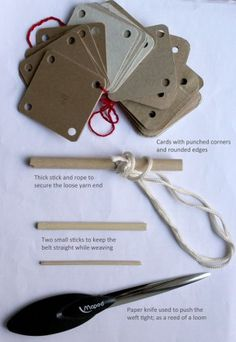 Tools for card weaving
