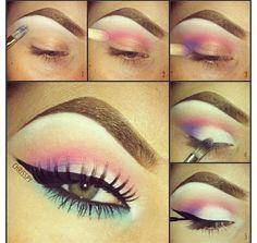 Cotton candy makeup