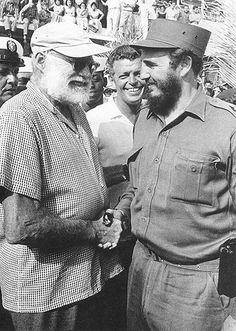 Hemingway and Castro, Image by Alberto Korda
