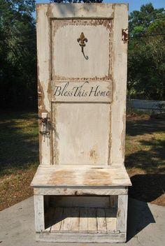 Antique Door Hall Tree by BayouRedeux on Etsy, $300.00