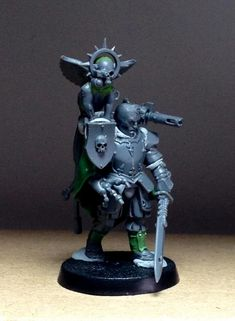 """Sword master in Duke Ko's retinue by MonkeyBallistic, they say """"I assume in a Knightly House there will be a lot of younger sons who don't inherit their fathers warmachine and so have to find employ elsewhere. This sword master is meant to represent one of those second or third sons."""""""