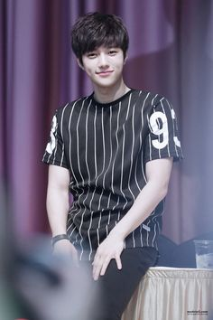 Myungsoo your dimples! This cutie, he is actually killing me, he is so handsome