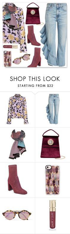 """""""Fun ~ Flirty ~ Friday"""" by drenise ❤ liked on Polyvore featuring Ganni, Citizens of Humanity, Moda In Pelle, Jessica McClintock, Ivanka Trump, Casetify, Illesteva and Smith & Cult"""