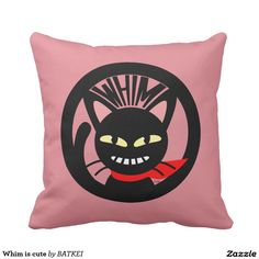 Whim is cute Pillow by BATKEI #Zazzle #猫 #cat #ネコ #pillow